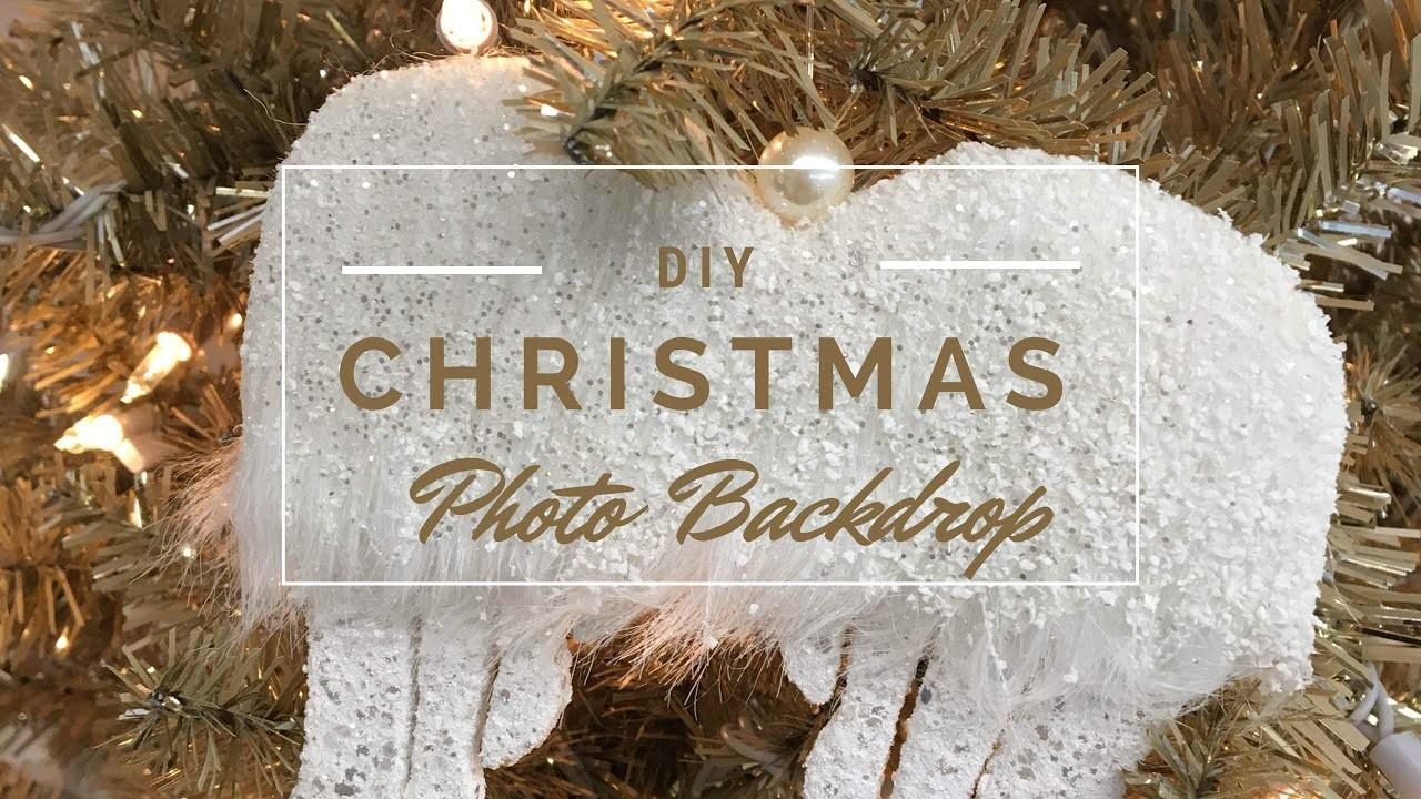 DIY Christmas 2017 Photo Backdrop + How to Fluff a Christmas Tree Tutorial