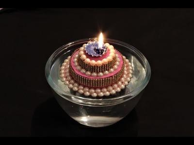 DIY-Christmas Floating Candles. How to make Christmas Candles