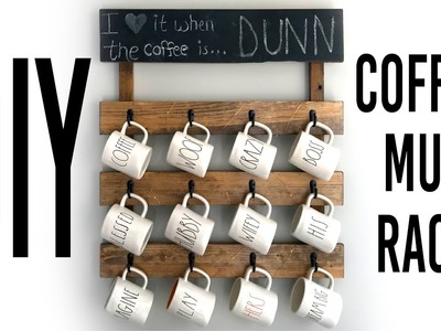 DIY Coffee Mug Rack For Wall