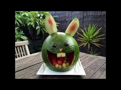 DIY Decoration Art In Watermelon Peacock amazing Fruit & Vegetable Carving Tutorial