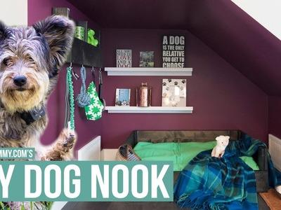 DIY DOG NOOK | Wooden Dog Bed & Organizer Tutorial | The DIY Mommy