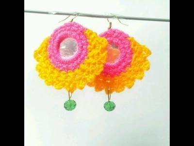 DIY earing.handmade crochet earing part 1.2