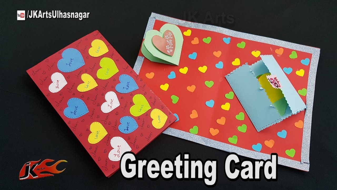 Diy Easy Greeting Card Tutorial Card For Scrapbook Jk Arts 1304