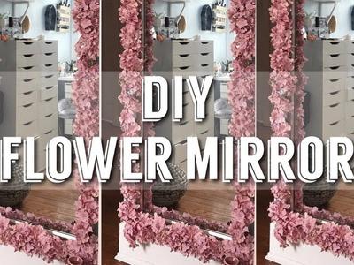 DIY FLOWER MIRROR | REESIIBABE