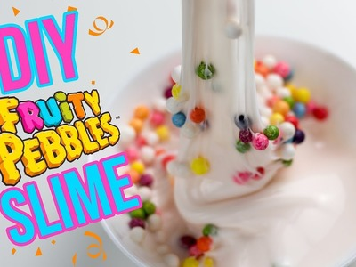DIY Fruity Pebbles Slime! How to Make Cereal Milk Slime!