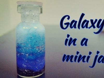 DIY: Galaxy in a mini bottle. jar.