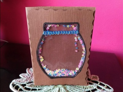 DIY Greeting Card - How to Make a Glitter Greeting Card + Tutorial !