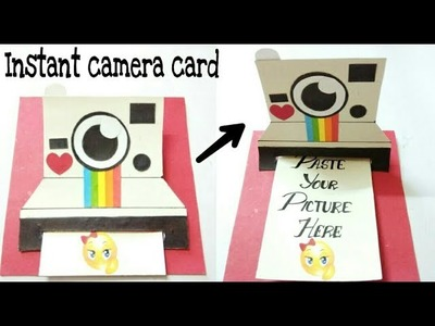 DIY|how to make card for bf | Polariod instant camera card | tutorial |3D photo card |craftsworld21