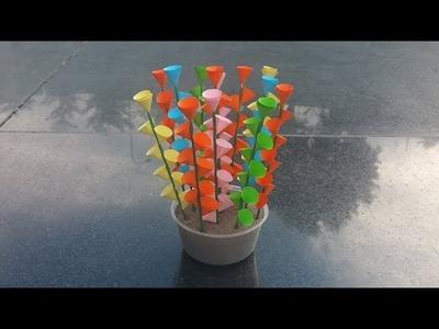 DIY, How To Make Paper Flower | کاردستی، ساخت گل های زیبای کاغذی