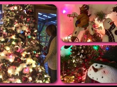~DIY~ IMMITATION FLOCKED TREE•  DECORATE MY CHRISTMAS TREE WITH ME •