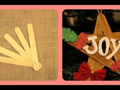 ???????????????????? DIY: Christmas Star Ornament using Popsicle sticks????????????????????????????????????