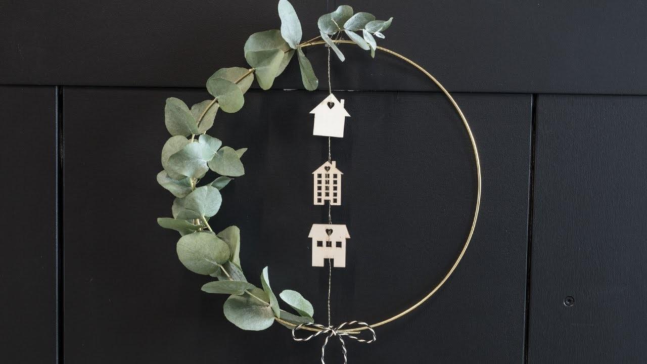 DIY : Make a wreath for the door by Søstrene Grene