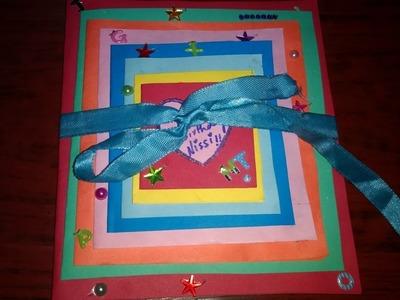 DIY Maze card. Birthday card idea for BestFriends(kids) : complete tutorial