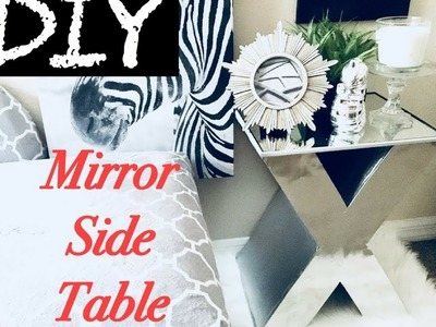 Diy Mirror Side Table Home.Room Decor Using Boxes!!! Simple, Quick, and Inexpensive.