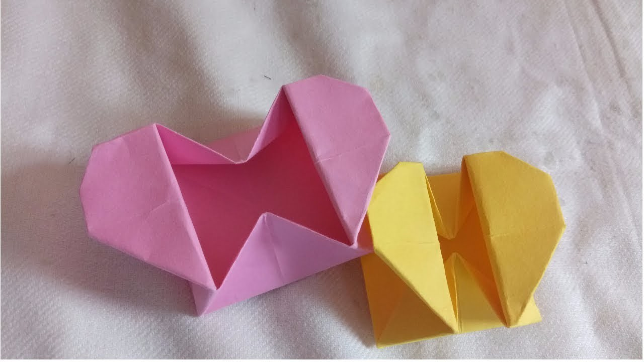 Diy Origami Heart Box Envelope With Secret Message Pop Up Heart Box