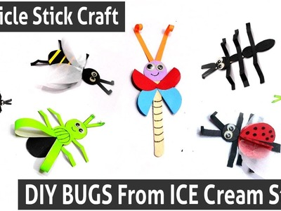 DIY Paper Insects Crafts - DIY BUGS From ICE Cream Sticks - Creative Ideas With Popsicle Sticks