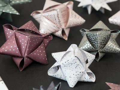 DIY : Paper stars by Søstrene Grene