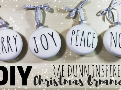 DIY Rae Dunn Inspired Ornaments | How to Download a Font | Cricut Design Space Christmas Decorations