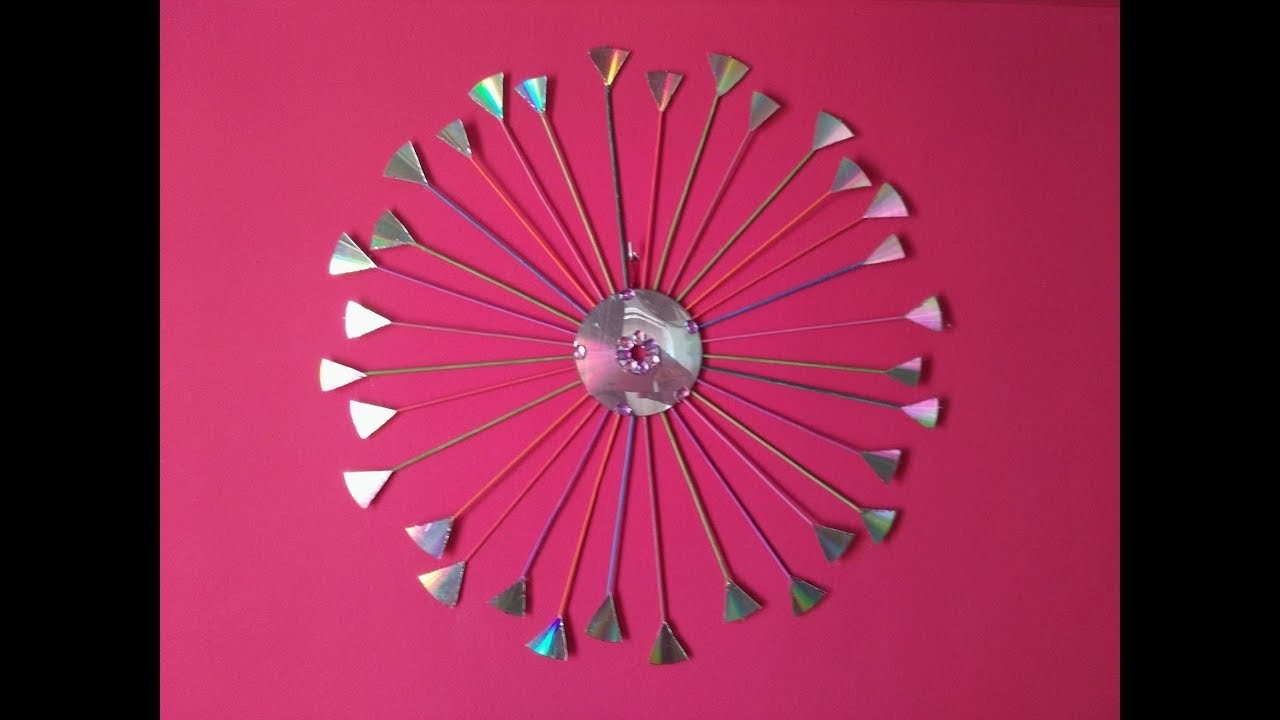 DIY Recycling Ideas - How to Reuse Old CD for Home Decor + Tutorial !