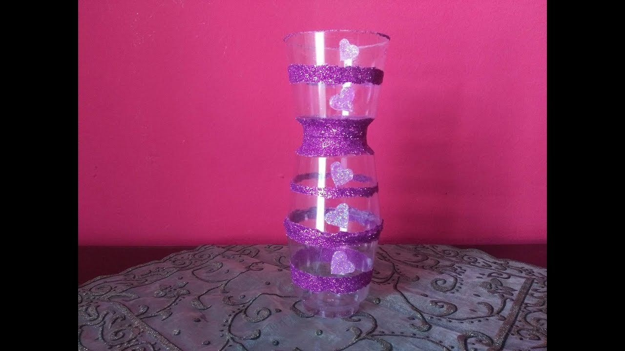 DIY Recycling Ideas - How to Make a Vase with Plastic Cups for Home Decor + Tutorial !