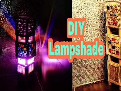 DIY Room decor Idea:  Lampshade how to make: