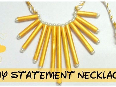 DIY statement necklace || how to make a statement necklace || || fringe necklace ||