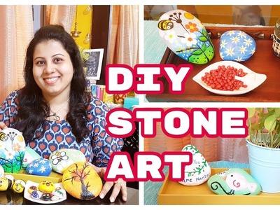 DIY STONE ART | DIY Painted Rock Art | DIY Stone Painting Using Acrylic Paint | Maitreyee's Passion