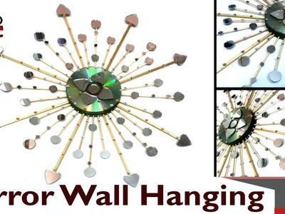 DIY Sunburst Mirror Wall Hanging - Use Old CD's into Wall Decor