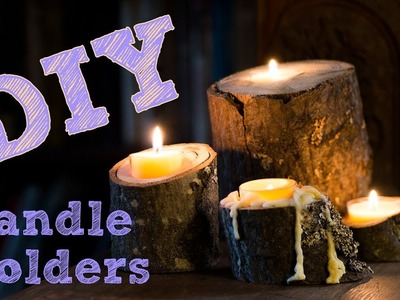 DIY Woodland Themed Branch Tealight Candle Holders | Easy Wood Crafting | Wedding Inspiration