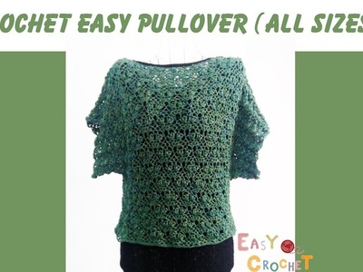 Easy crochet: Crochet easy pullover for Fall and Winter any size (PART 1)