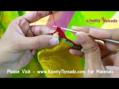 Flower Design Crochet Tassels | Tutorial | 3 Petal Flower Design | www.knottythreadz.com