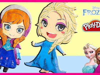 Frozen Elsa and Anna Disney Princess Playdoh  DIY|SunnyD Toys & Playdoh