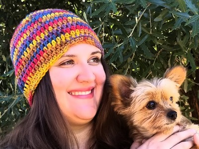 Half Double Crochet Autumn Beanie Project
