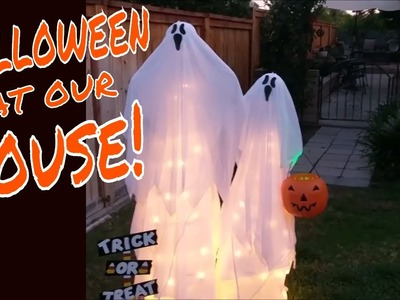 HALLOWEEN at Our Home 2017, DIY Ghosts, Costumes & More!