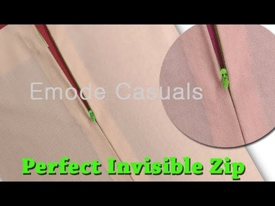 How to attach invisible Zipper easy DIY tutorial