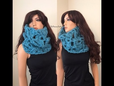 How to Crochet a Cowl Neck Warmer Pattern #125│by ThePatternfamily