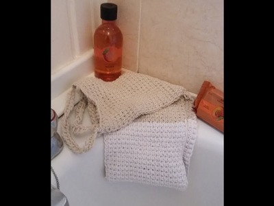 How to crochet a Tunisian simple stitch back scrub using soft string