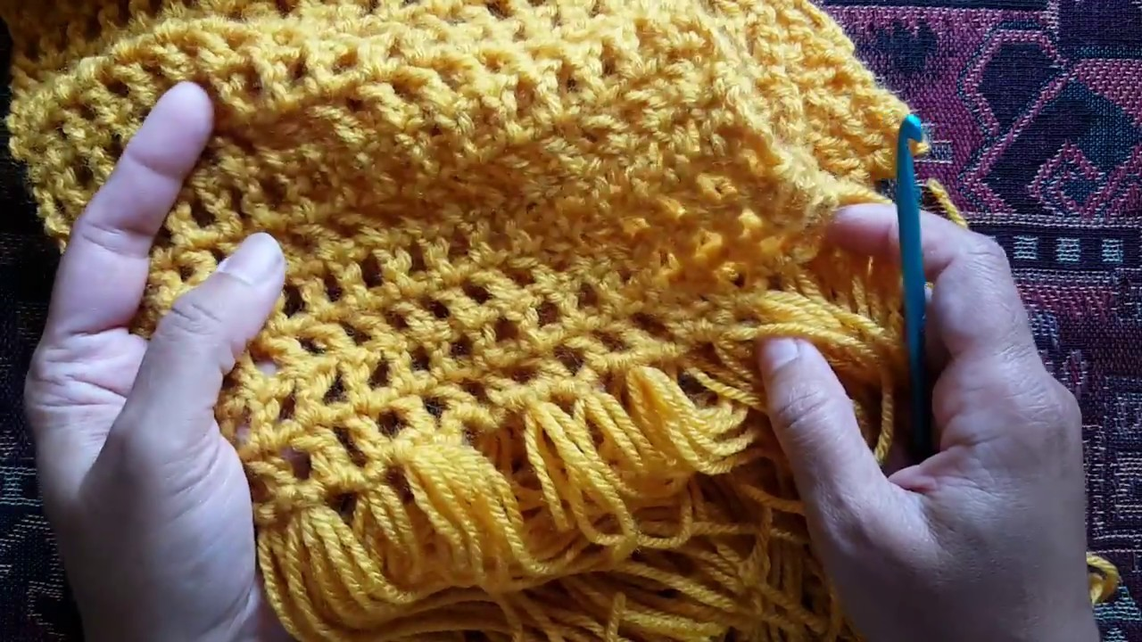 How to crochet an openwork scarf: a Knittycat's Knits tutorial