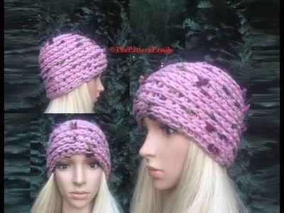 How to Crochet Knit-Like Beanie. Camel Stitch Hat Pattern #134│by ThePatternFamily