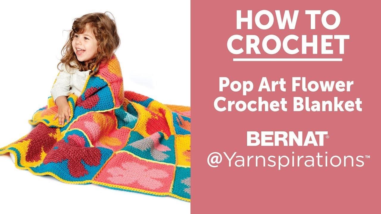 How to Crochet: Pop Art Flowers Blanket