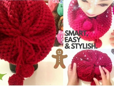 How to Crochet Scarf Cowl.Hat #1 | Easy for all l☕ The Crochet Shop xmas gift