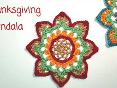 How to crochet Thanksgiving mandala