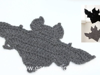 How to crochet the bat in DROPS Extra 0-1391