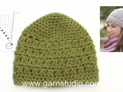 How to crochet the hat in DROPS 182-10