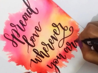 How To : DIY Water Color Background using TOMBOW Dual Brush Pens | Easy Watercolor Backgrounds