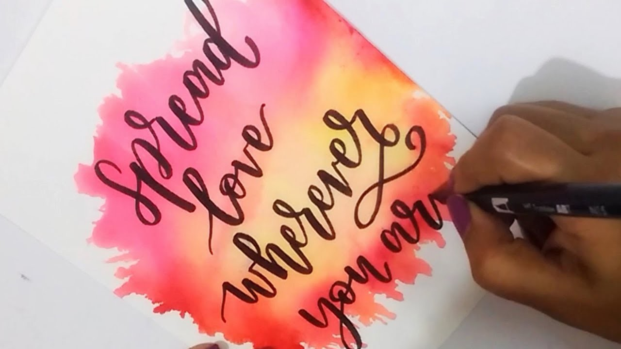 How To : DIY Water Color Background using TOMBOW Dual Brush Pens   Easy Watercolor Backgrounds