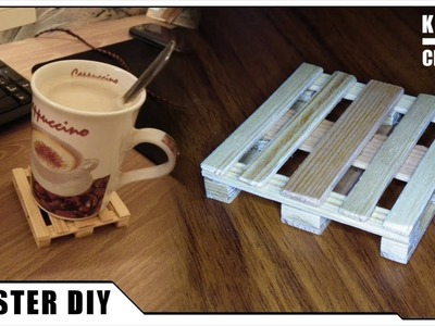 How to make a COASTER from WOOD. DIY