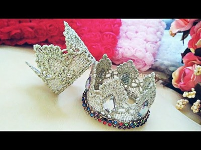 How To Make A Crown Lace For Headband | DIY by Elysia Handmade