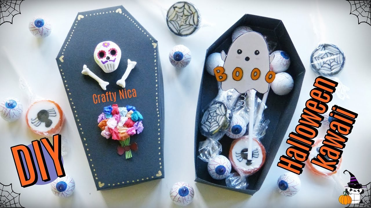 HOW TO MAKE A CUTE SURPRISE BOX ????  HALLOWEEN CRAFTS FOR KIDS ????  DIY CARDBOARD GIFT BOXES