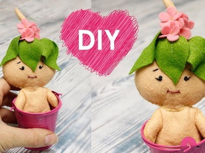 How to make a flower fairy doll - DIY